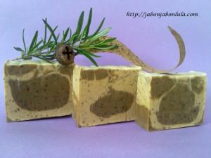 Jabón Natural de Eucalipto y Romero con Leche de Cabra