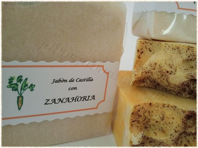 Jabon de Castilla con Zanahoria, aceite de oliva y leche de cabra